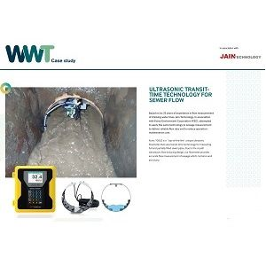 Ultrasonic transit time technology for sewer flow