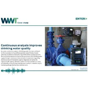 Continuous analysis improves drinking water quality