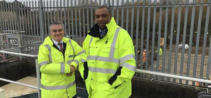 South East Water's Brian Steventon and Desmond Brown at Bray Keleher
