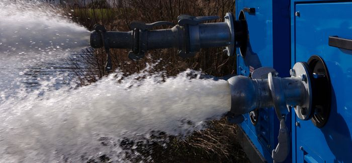 Water is overpumped away from the affected area and discharged downstream