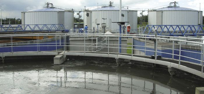 Anaerobic digestion at El Salitre wastewater treatment works in Bogota, Colombia