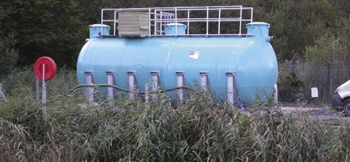 EnSo nitrification tank working with reed beds