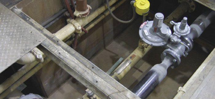 Underground vault with flow meter