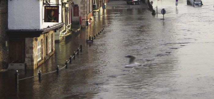 Flooding in York: natural systems such as rivers, lakes and the sea need to be managed