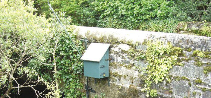 Bridge-mounted sensor deployment at Gouganbarra on the River Lee, Co Cork