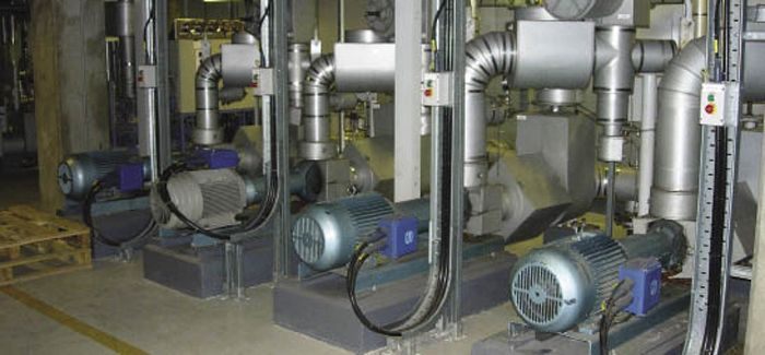 Horizontal-mounted end-suction pumps used in process applications