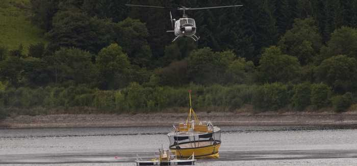 The ResMix system was installed by helicopter