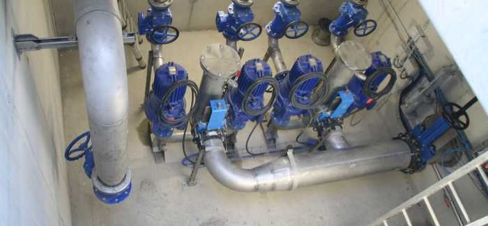 The pumps were housed in a specially designed subterranean chamber