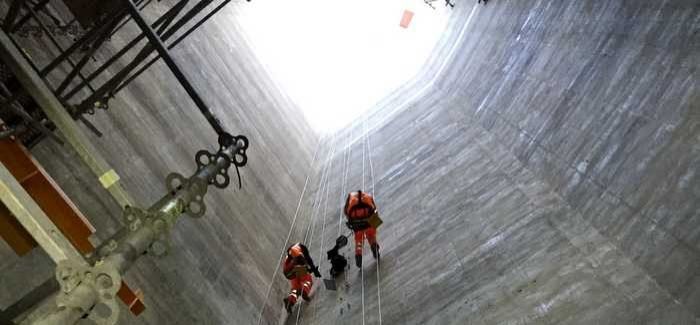 Rope access is essential for installations in hard-to-reach locations such as the Lee Tunnel