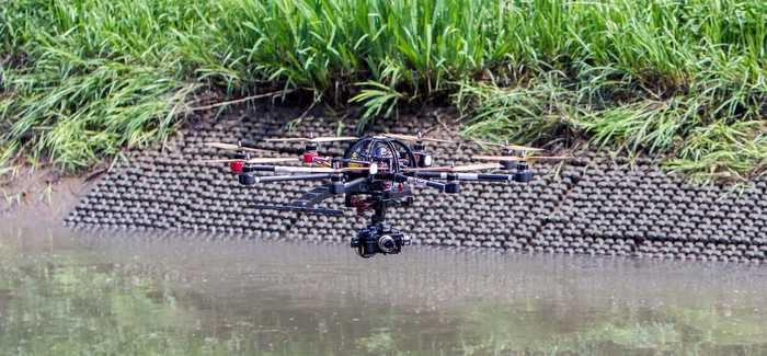 The ability of the UAVs to fly low over the water was an advantage