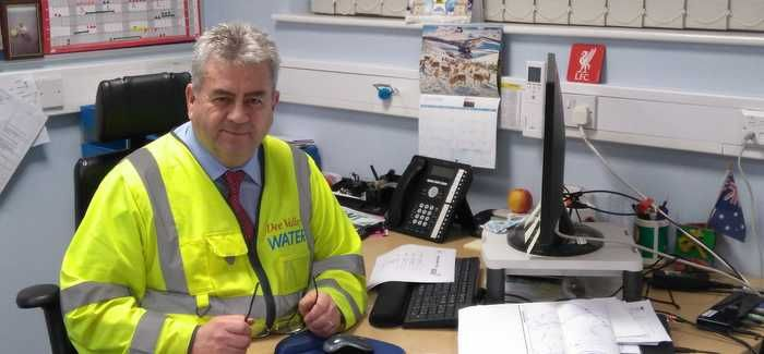 Phil Jones in Dee Valley Water's Wrexham office