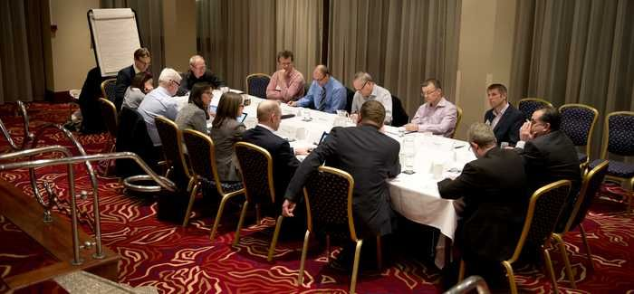 Round table participants at the discussion in Birmingham