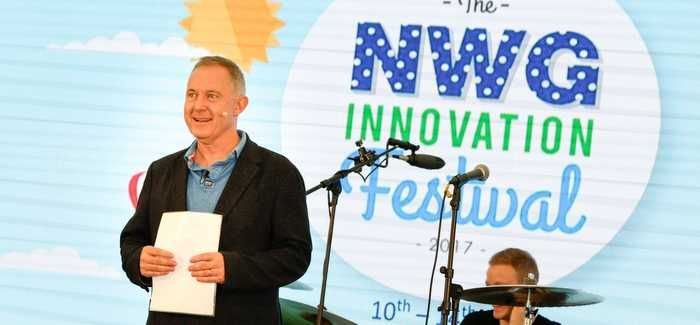 Nigel Watson on stage at the innovation festival