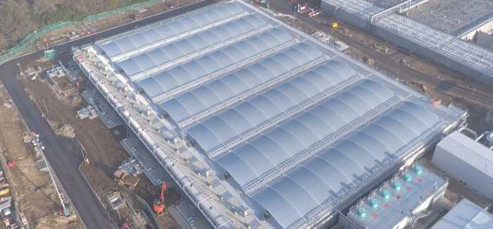 The primary settlement tanks at Deephams STW have been fitted with PVC roof covers