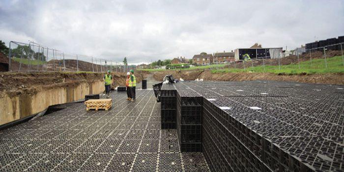 Storm tank being installed near Belfast