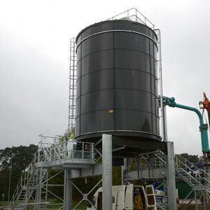 Sludge storage system a piece of cake for Saxlund