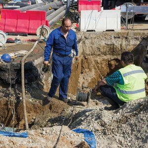 Striking out underground cable strikes