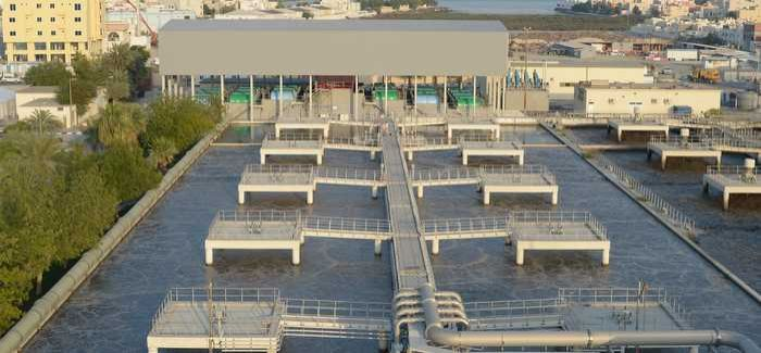 Tubli wastewater plant: the HYBACS installation can be seen at the rear