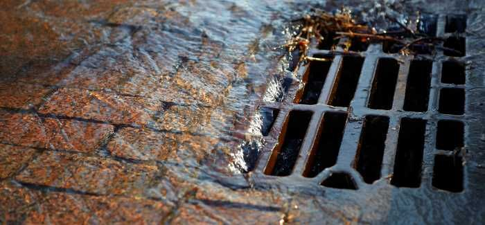 The basin will drain back into the sewer system when the storm has passed