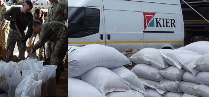 Kier is helping the Army to keep up with the demand for sandbags