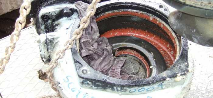 Choked pumps at Glencaple Pumping Station