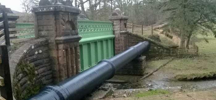 The Talla Aqueduct has to traverse several bridges