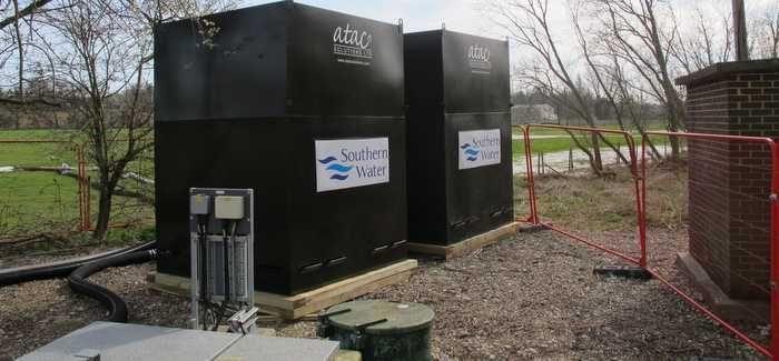 Each tank can improve water quality by 40%