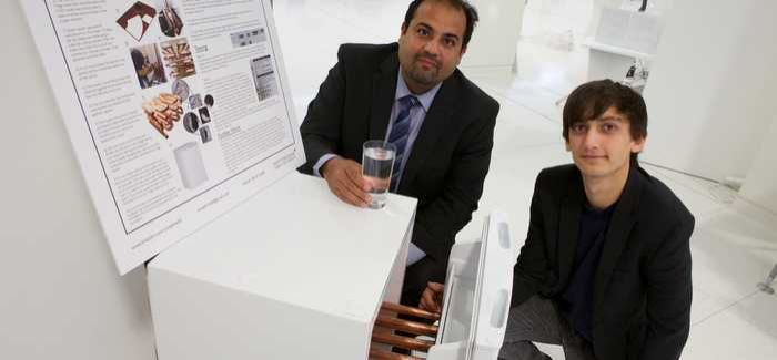 Dr Amin Al-Habaibeh (left) with Joe Wild, who also worked on the project