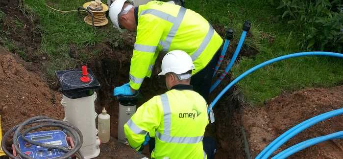 Amey will design and construct water mains associated with new developments for Severn Trent