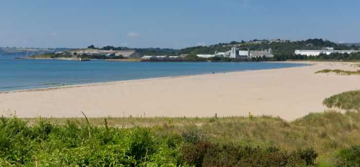 Bathing water quality at Par and Polkerris was unaffected