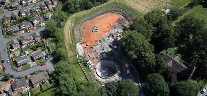 The project includes the construction of a 2,500m³ tank to temporarily store rainwater