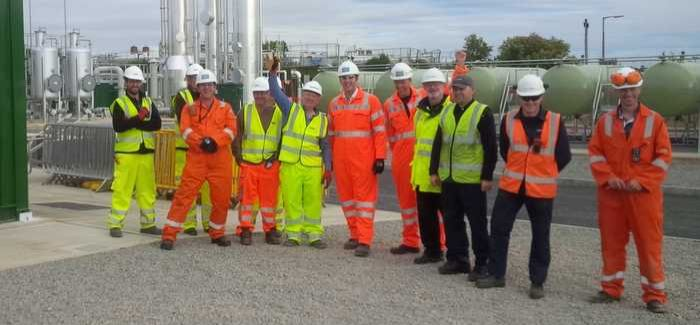The project team celebrate the completion of the Minworth gas-to-grid plant