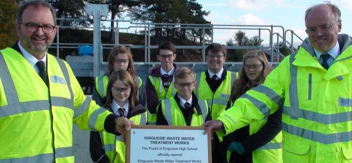 Pupils from Kingussie High School attended the opening of the works