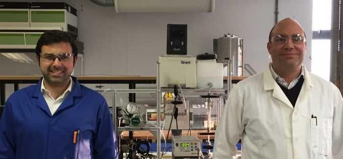 Bath University's Dr Darrell Patterson and Dr Davide Mattia