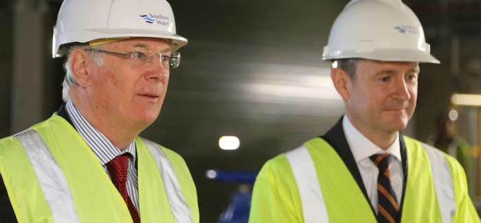 The Duke of Gloucester with Southern Water's Matthew Wright