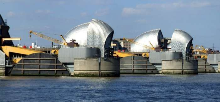 The work includes the Thames Barrier