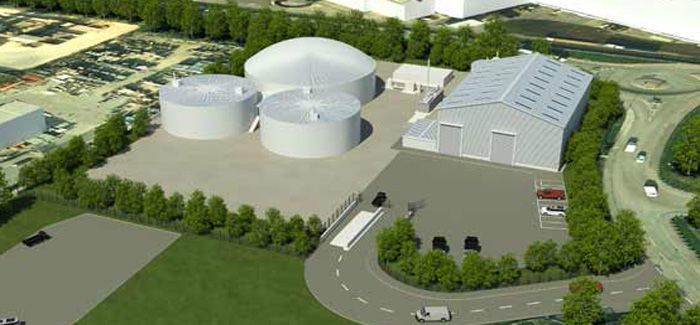 The new recycling facility is to be built at Welsh Water's Cardiff WwTW