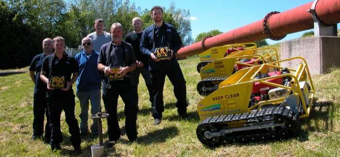 South West Water's grounds care team with the new mowers