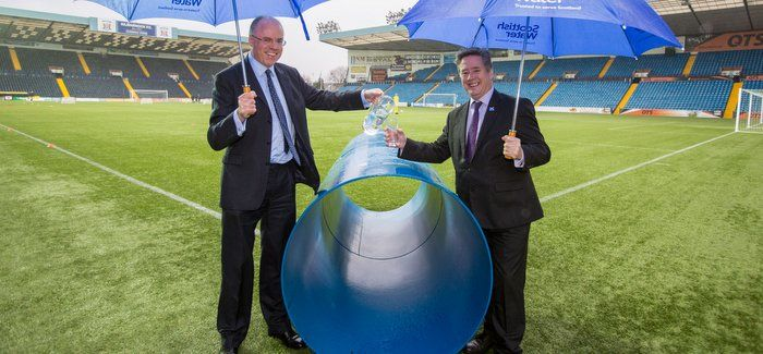 Scottish Water chief executive Douglas Millican (left) with Scottish cabinet secretary for Infrastructure Keith Brown