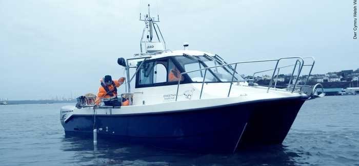 Coastal investigation work in progress