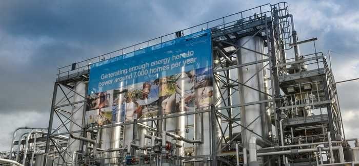 The Esholt plant generates enough energy to power 7,000 homes