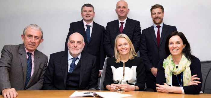 Severn Trent and Barhale leaders at the contract signing
