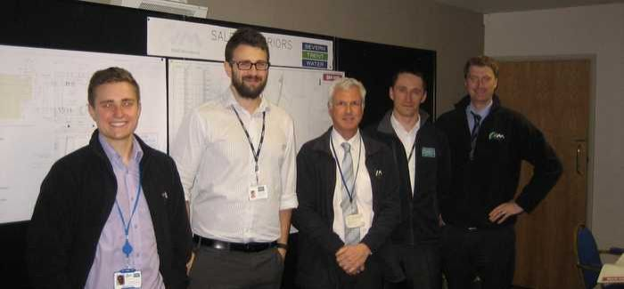 NMCNomenca and Severn Trent representatives at the exhibition