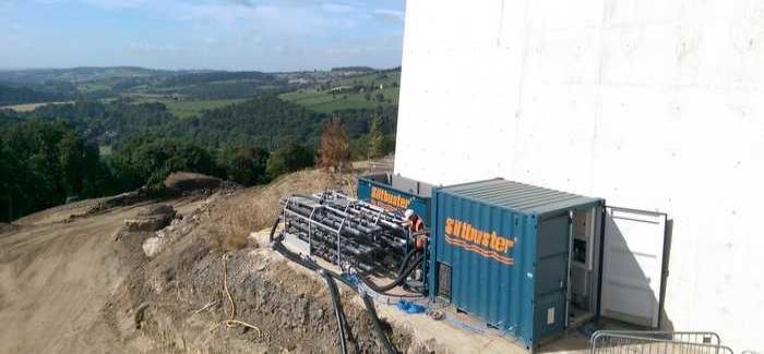The Siltbuster system in place at Ambergate Reservoir