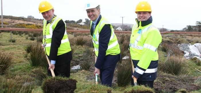 L-R: Cllr Terence Slowey (Donegal County Council), Minister of State Joe McHugh T.D, and David McLoone (Irish Water)