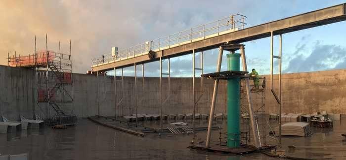 Each scraper bridge is 46 metres long
