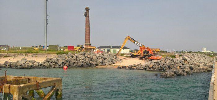 Work underway at Fort Cumberland near Portsmouth