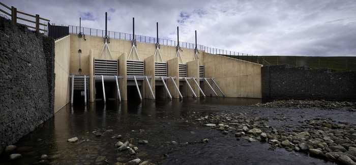 The new Cotting Burn dam was the centrepiece of the project
