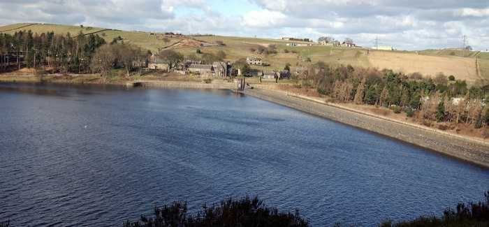 The reservoir and treatment works at Langsett in the Peak District