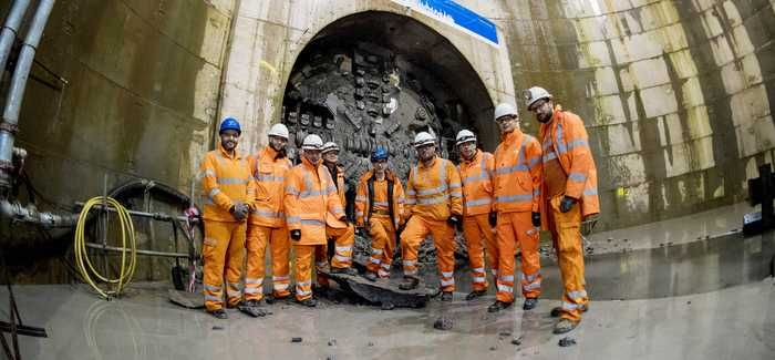 The tunnel breakthrough at Queen's Park (picture: SNS)
